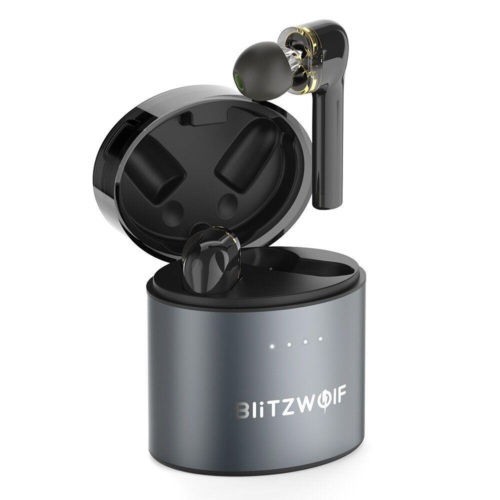 BlitzWolf® BW FYE8 TWS bluetooth 5.0 Earphone QCC3020 Graphene Dual Dynamic Driver Touch Control Hands free Headphone