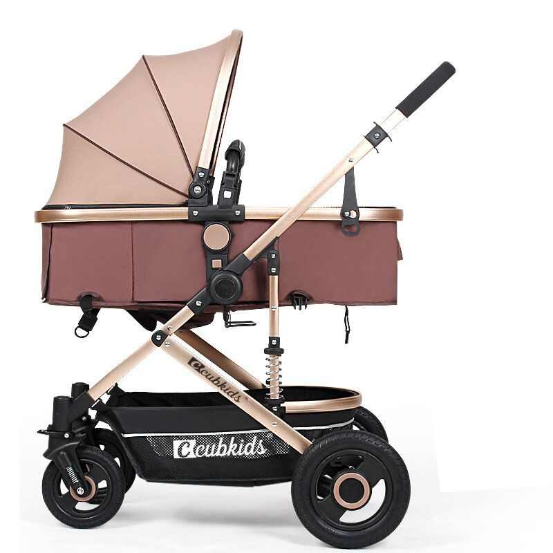 Folding Aluminum Infant Baby Stroller Kids Foldable Pushchair Bassinet and Car Baby Stroller