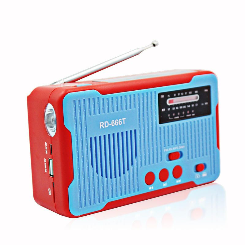 IPRee® 4 In 1 Hand Crank Generator Solar AM/FM Radio Emergency LED Flashlight Power Bank USB Rechargeable Alarm Camping Travel