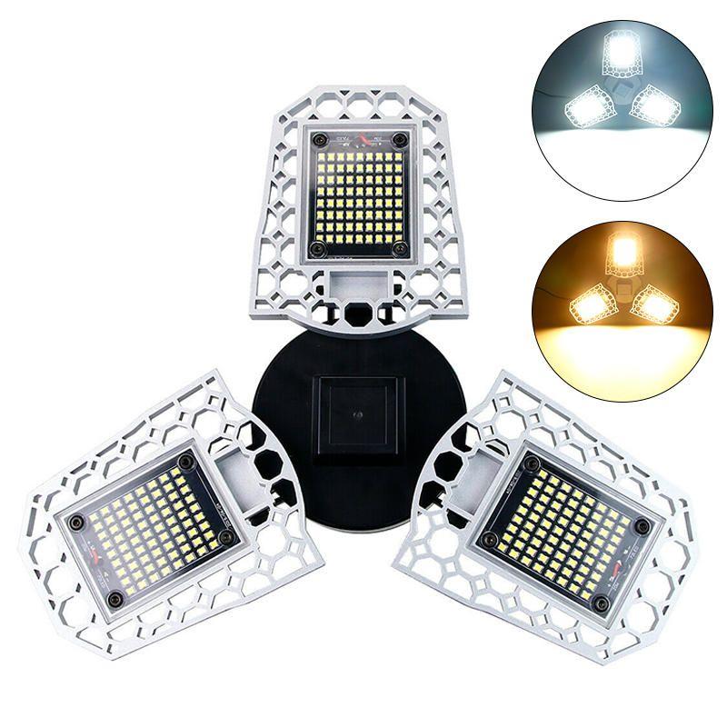 AC100 277V E27 60W LED Bulb Deformable Induction Light Sensor Garage Lamp for Parking Lot Warehouse