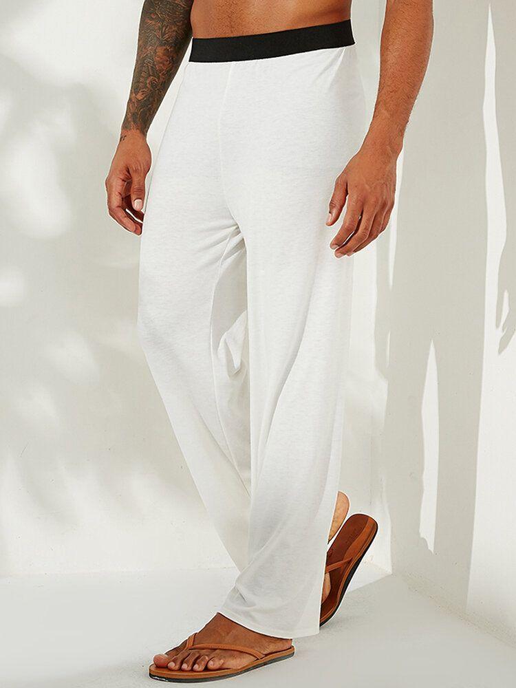 Casual Stretch Cotton Pajama Pants