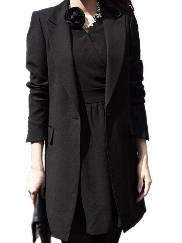 Women Casual Office Business Tunic Blazer Jacket Coats