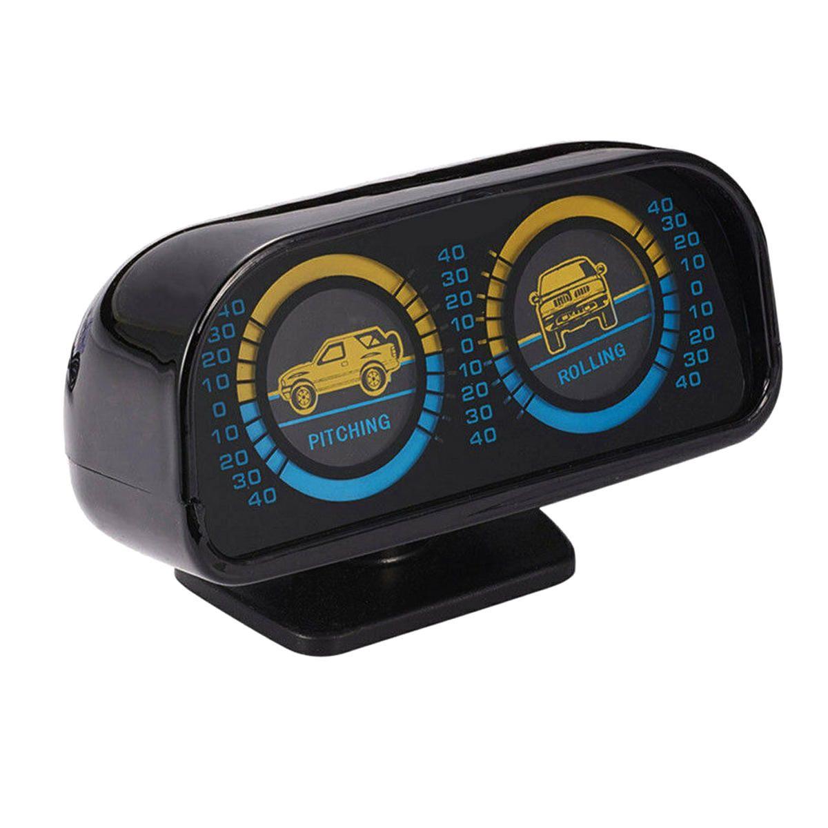 12V Two barreled Backlight Slope Meter Inclinometer Compass Balance Level Balancer for Car Off road