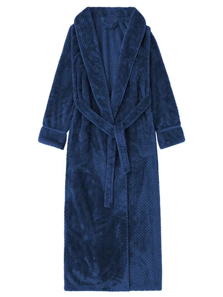 Coral Fleece Thick Cardigan Coats Pajamas Gown