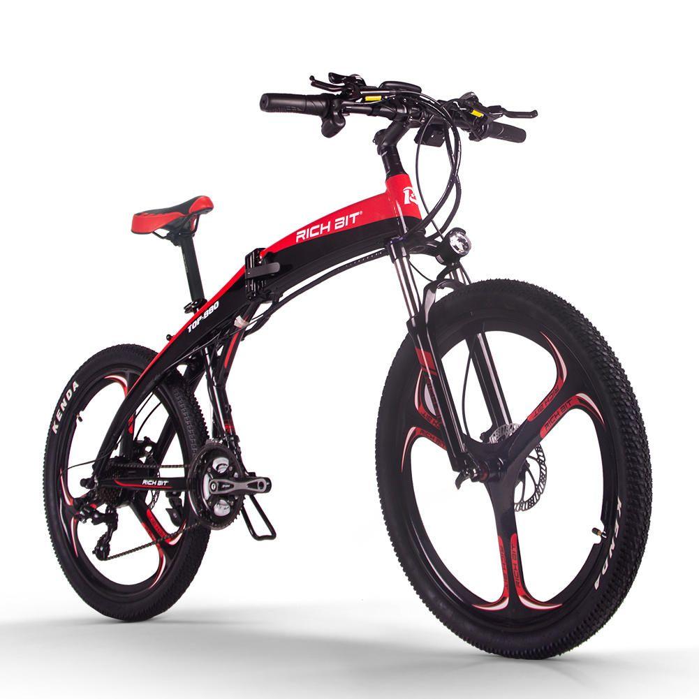 [EU Direct] RICH BIT TOP 880 250W 36V 9.6Ah 26inch Folding Moped Electric Bike Hydraulic Disc Brake 35km/h Top Speed 38 42 Mileage Range Mountain Bike