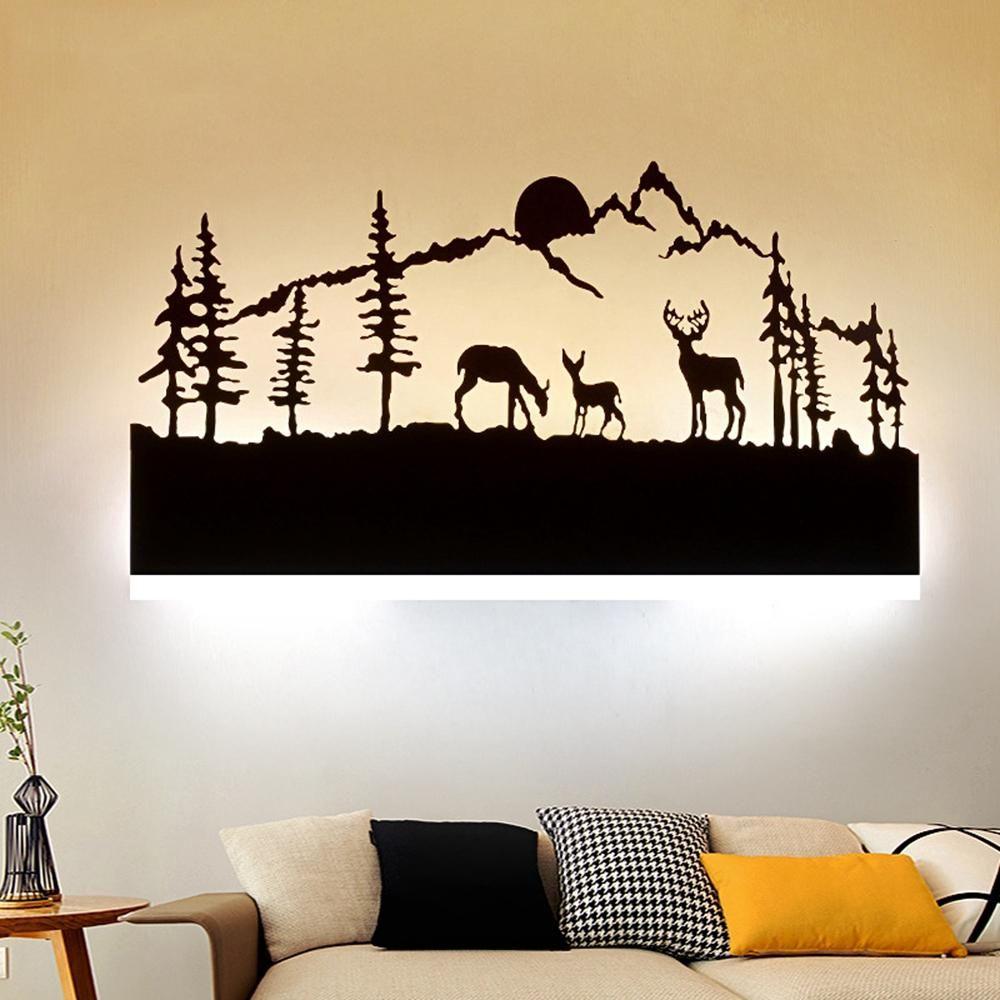 14W Nordic Art Modern Bedroom Bedside Sconce Light Wall Lamp Room Hotel AC175 265V