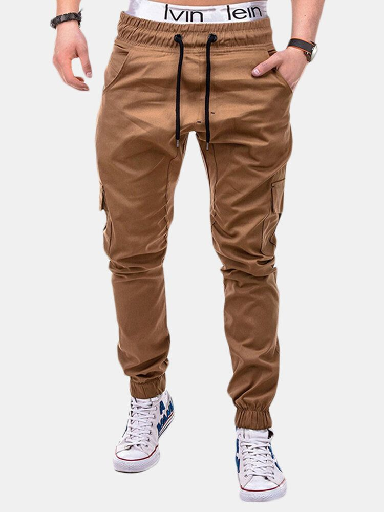 Waist Drawstring Multi pocket Cargo Pants