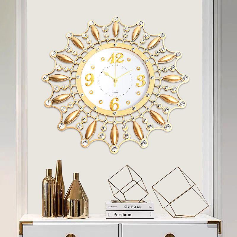3D DIY Creative Flower Silen Metal Art Wall Clock Home Office Modern Decoration Clock