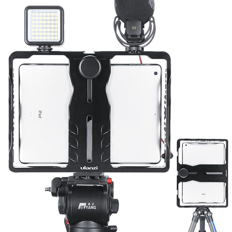 Ulanzi U Pad Metal Filmmaking Rig Holder Stabilizer for Pad Phone with Cold Shoe for Microphone LED Video Light