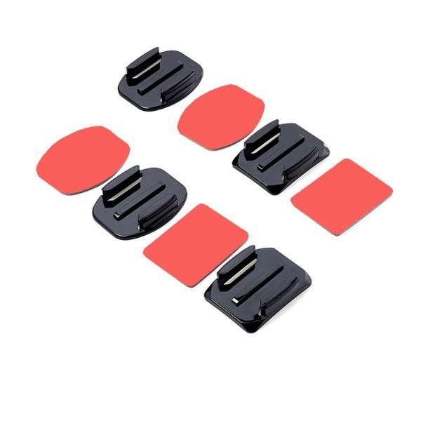 NEI US$2.21 2 Flat and 2 Curved Adhesive Mount With Adhesive Pads For Gopro Xiaomi Yi SJ4000 Sport Camera