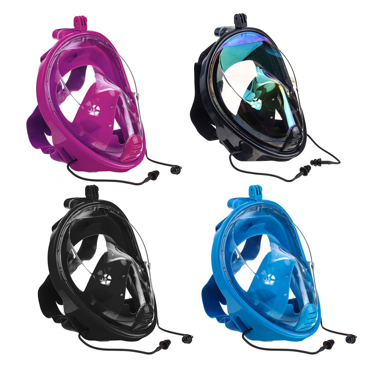 Diving Mirror Snorkeling Mask Rainbow Silicone Breathing Tube Diving Mask