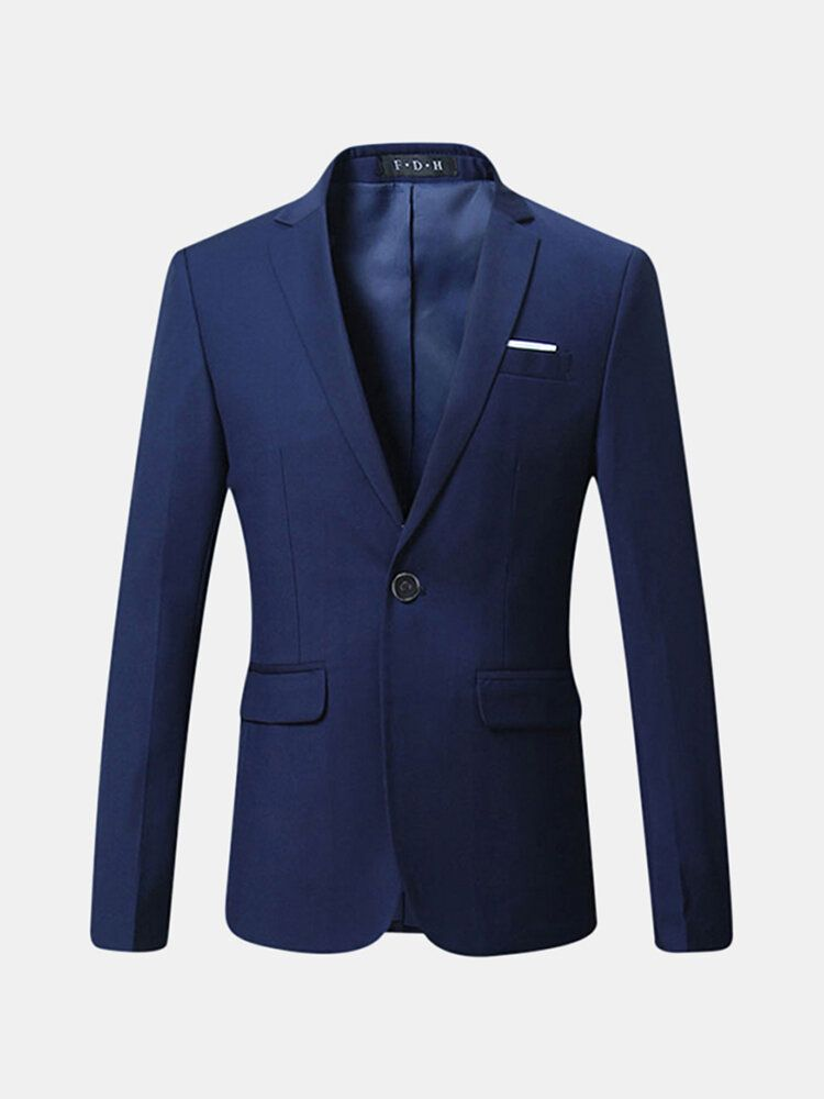 Spring Autumn Casual Business Suits Slim Fit Fashion Solid Color Men Blazers Plus Size S 4XL