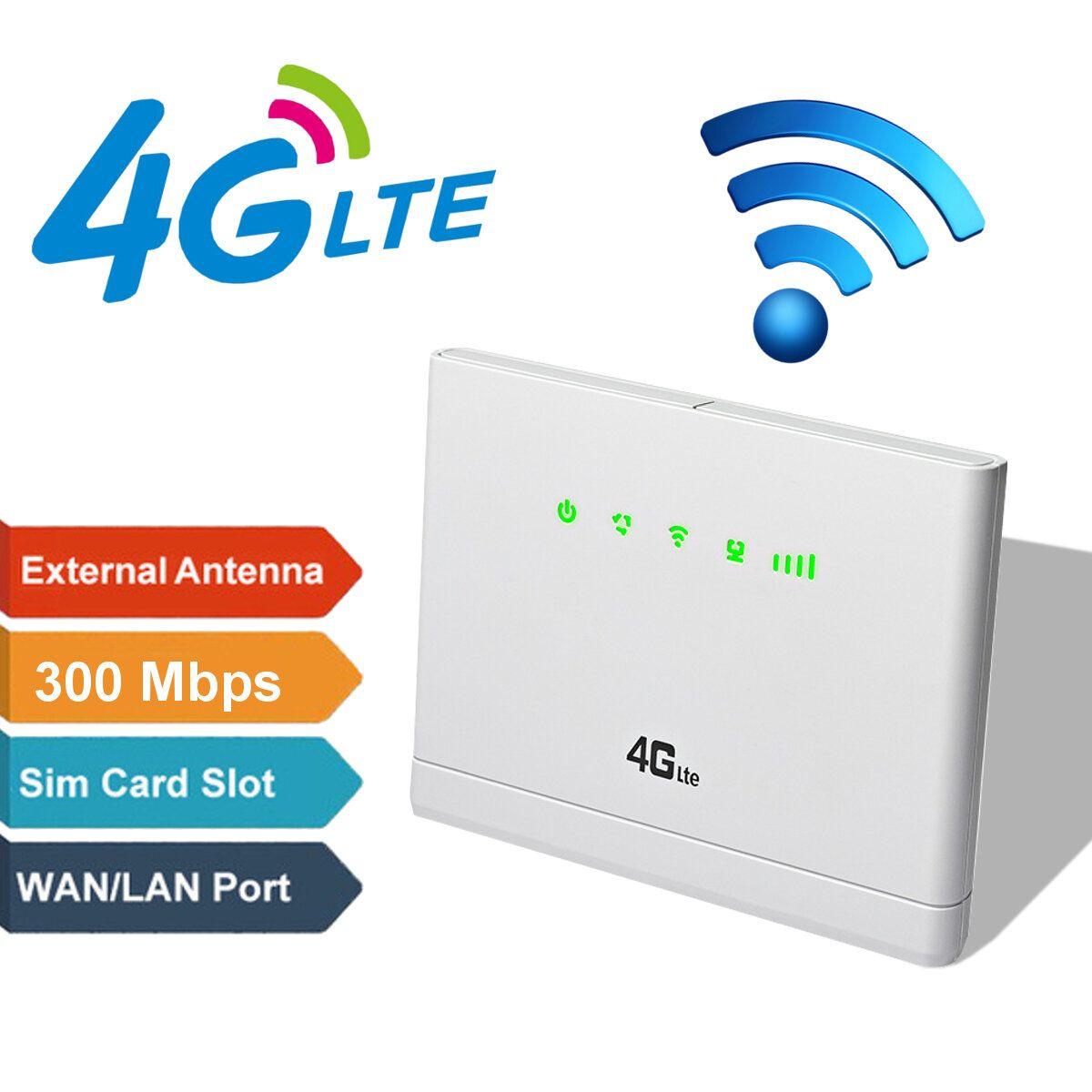 3G/4G CPE LTE Wireless Router 300Mbps Mobile Hotspot Modem SIM Card Slot Hot 3/5 Modes