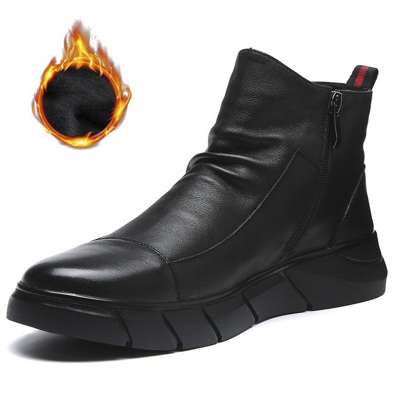 Synthetic Leather Warm Slip Resistant Ankle Boots