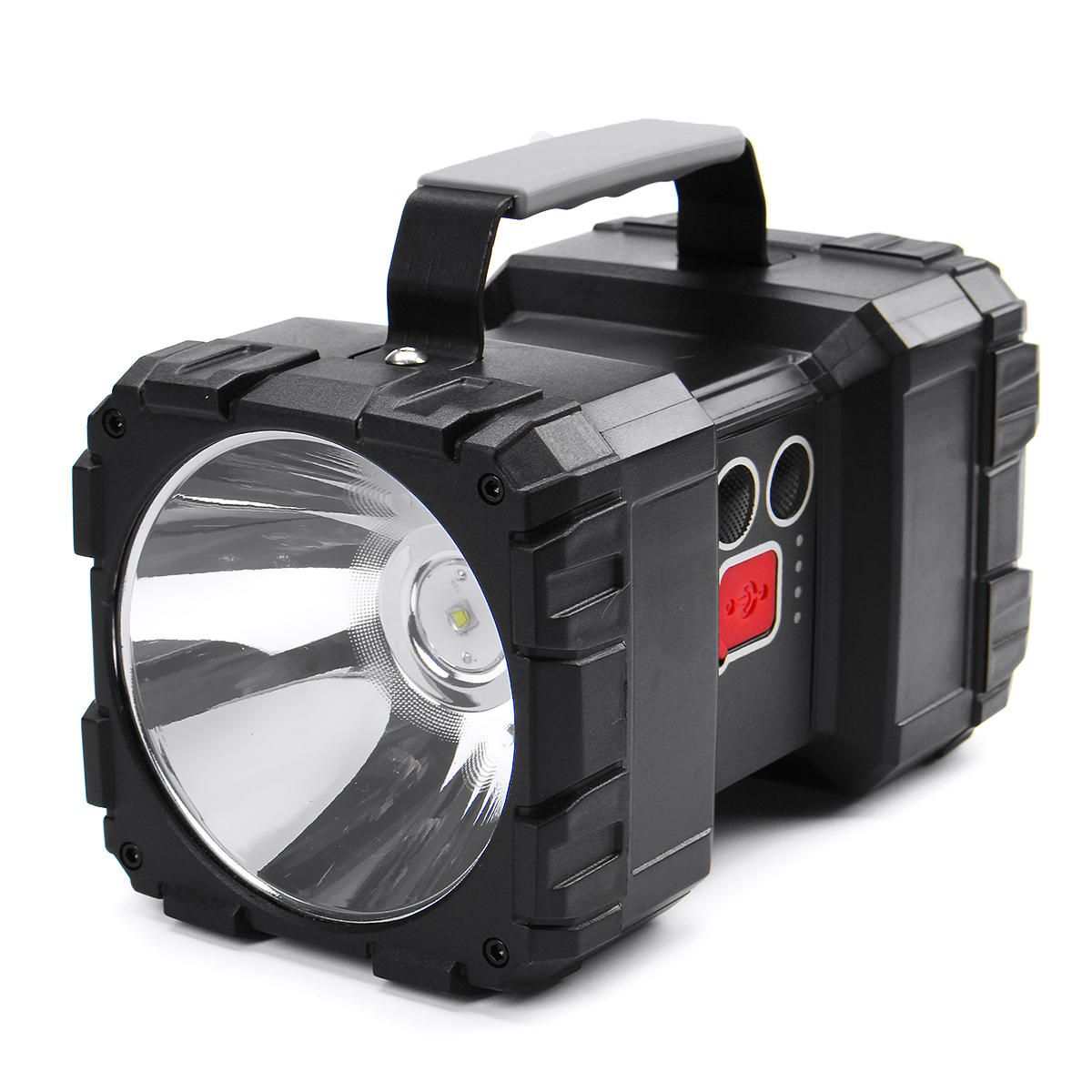 8000LM 500W Dual Head LED Super Bright Spotlight USB Rechargeable Powerful Searching Light