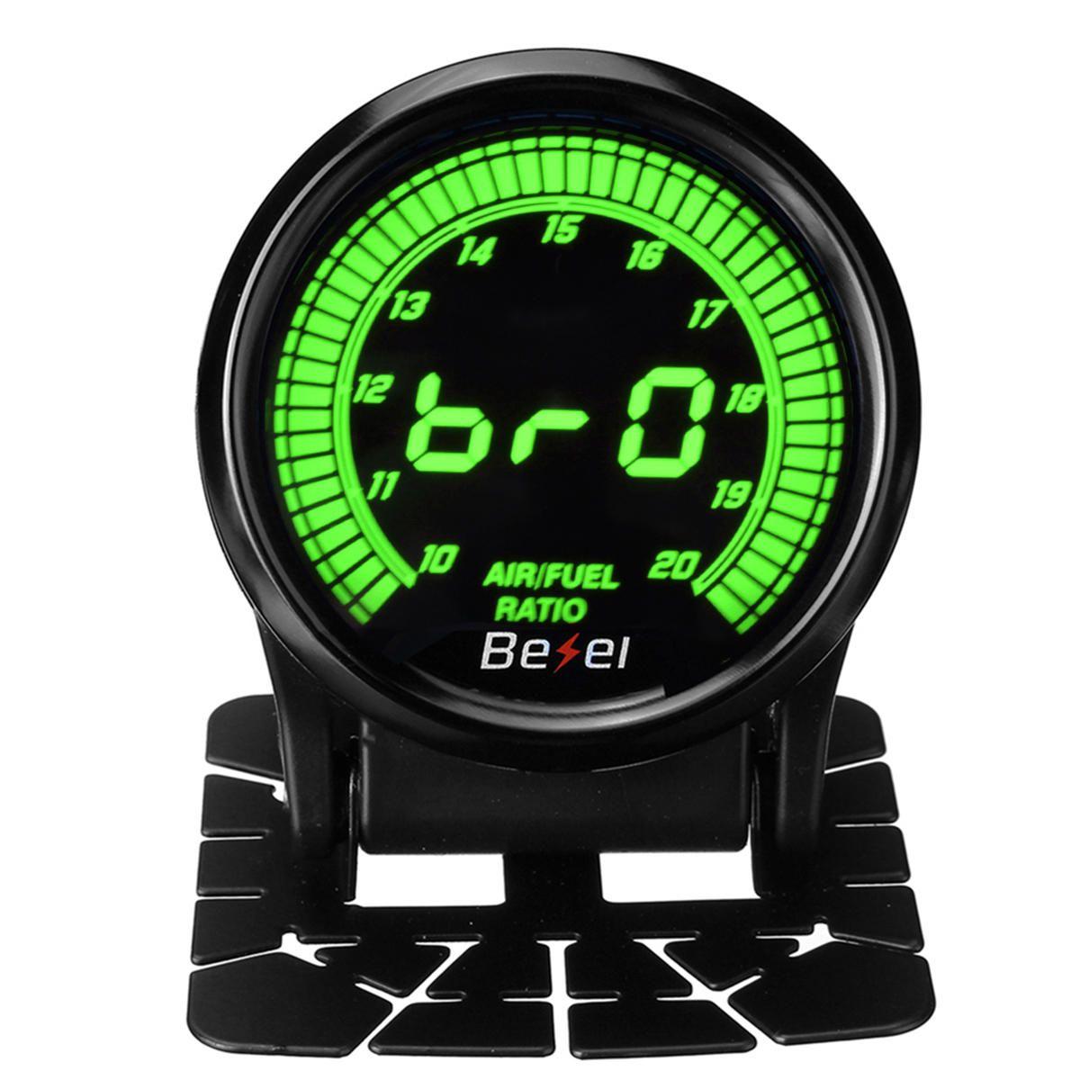 EVO 2 52mm Car Auto Air / Fuel Ratio Gauge Meter AFR Digital LED Display Black Face