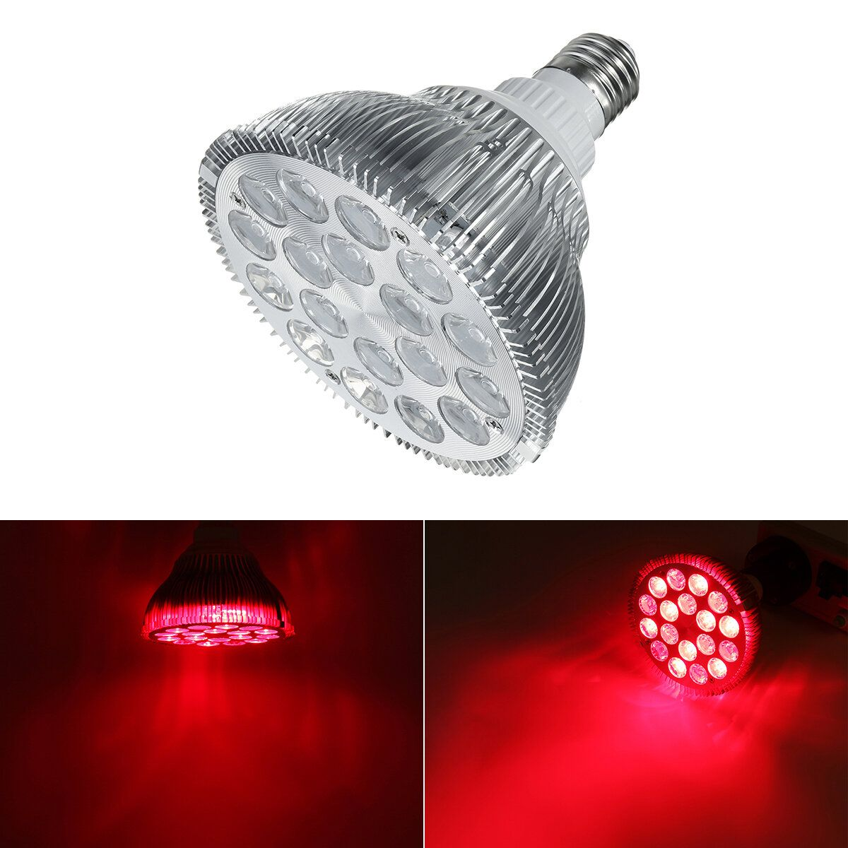 E27 54W Red and Near Infrared LED Light Therapy Bulb 660nm 850nm Anti aging and Pain AC85 265V