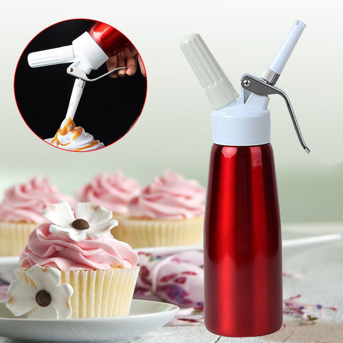 500ml Whip Coffee Dessert Fresh Cream Butter Dispenser Whipper Cake Maker Tool Cake Batter Dispenser