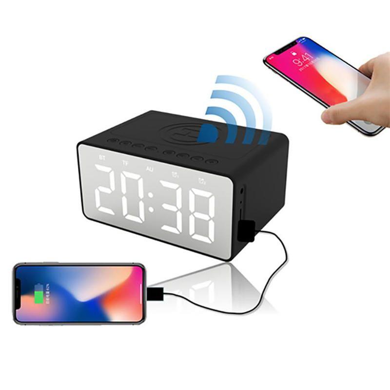 Bakeey BT508 Wireless Charger bluetooth Speaker Clock LED Alarm Power Bank Waterproof
