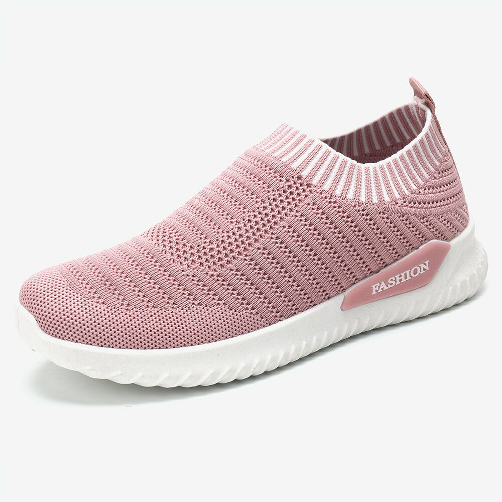 Breathable Knitted Lightweight Casual Soft Running Sneakers