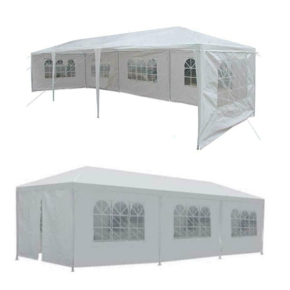 10x30ft Outdoor Canopy Wedding Party Tent Gazebo Pavilion Medical Tent with 5 Walls Cover