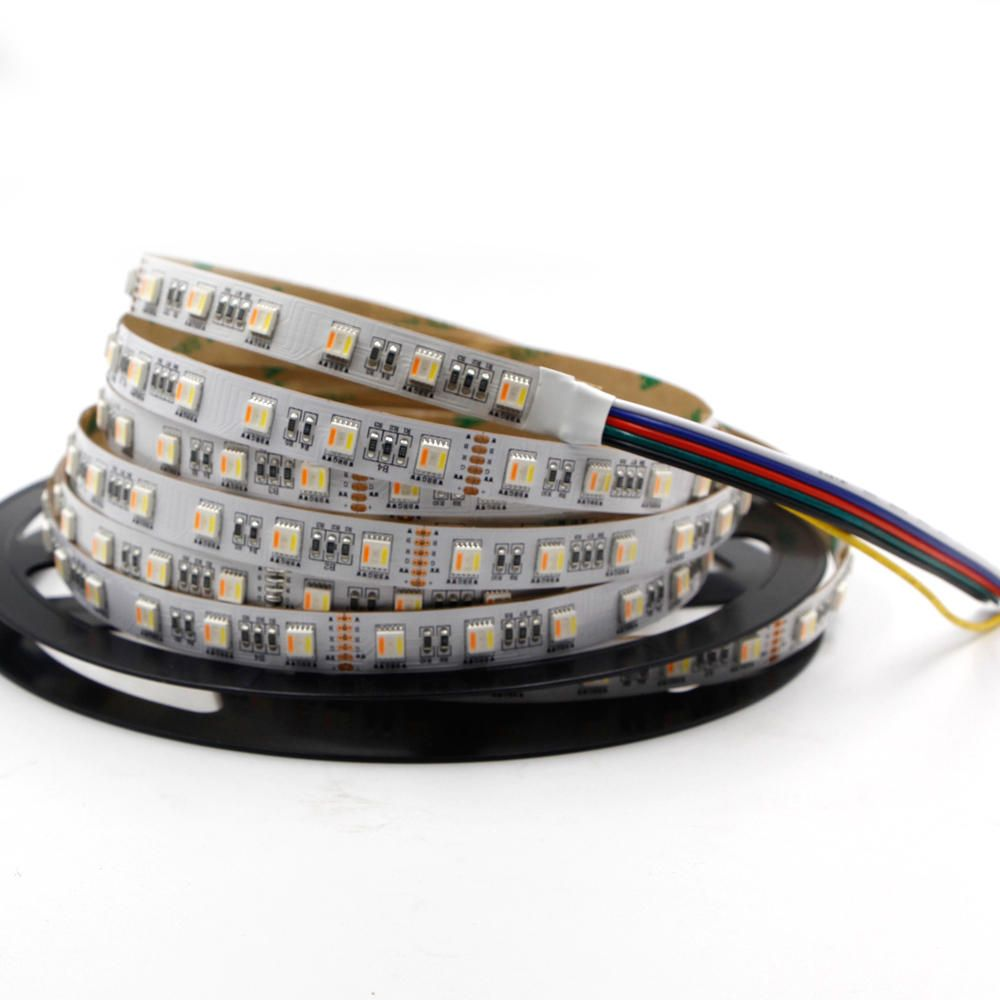 DC12V 5IN1 RGB+CCT LED Strip Light 5050 Flexible Tape Non waterproof Indoor Lamp Home Decor
