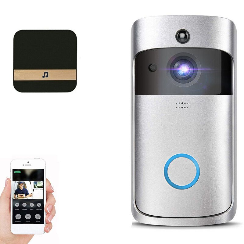 Wifi Samrt Video Doorbell Intercom PIR Detection Camera Night Vision Cloud Storage