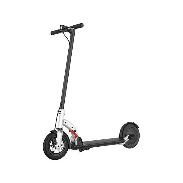 NEXTDRIVE N 4A 350W 7.8Ah 36V 8.5inch White Folding Electric Scooter 26km/h Top Speed 30km Mileage Range Double Brake System Waterproof Scooter Max Load 100kg