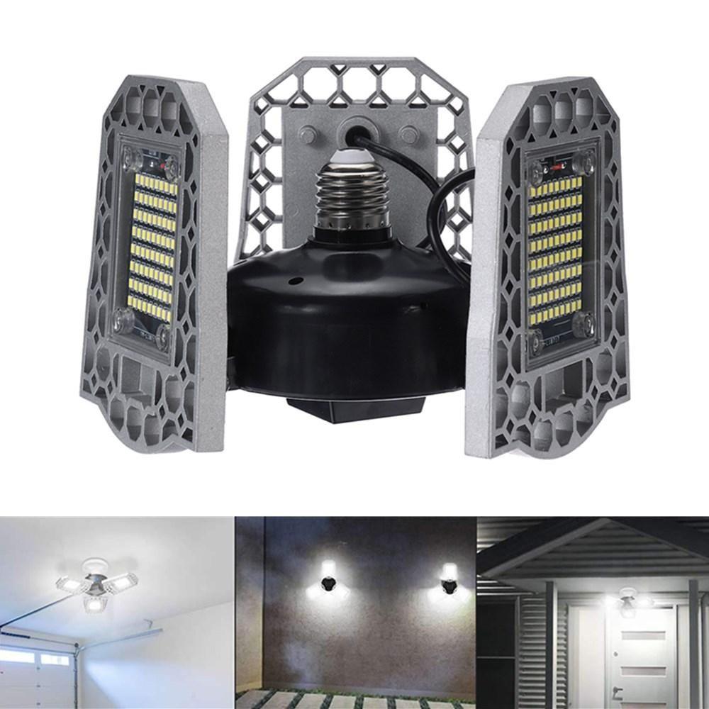 200W 240W 300W Waterproof Light Sensor E27 LED Bulb Deformable Garage Lamp Ceiling Workshop Lighting