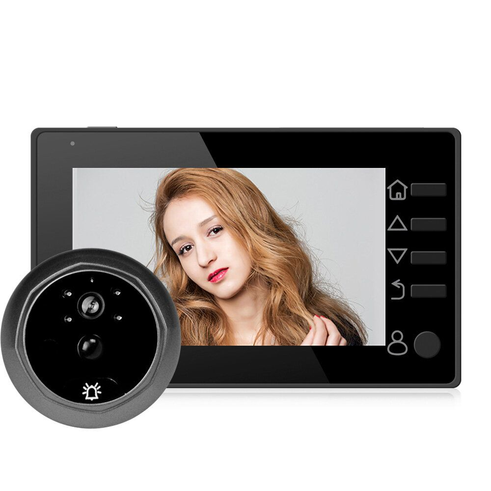 4.3 Inch Digital LCD HD Peephole Viewer Doorbell Eye Monitor Camera Security System