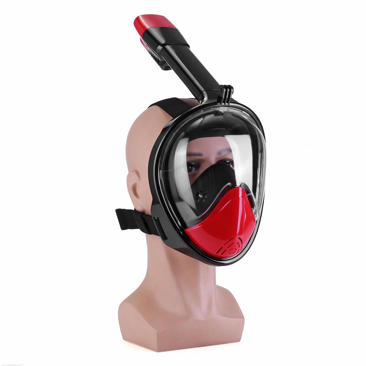 180° Vision Field Full Dry Snorkeling Mask Adjustable Anti fogging Seal Silicone Elasticated Diving Mask