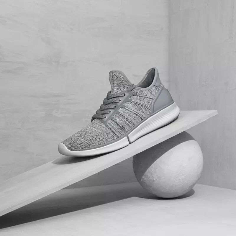 Xiaomi Mijia Sneakers 1 Fly Knit Ultrlight Non Slip Shock Absorption Men Sneakers EVA+Rubber+TPU Insoles 3D Fishbone Lock System Sports Running Shoes Casual Shoes