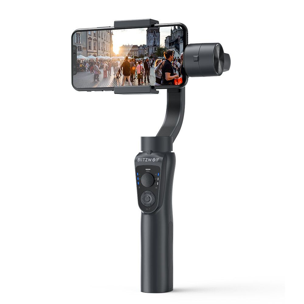 BlitzWolf® BW BS14 bluetooth 3 Axis Gimbal Stabilizer With Three Adjustable Modes for Mobile Phones