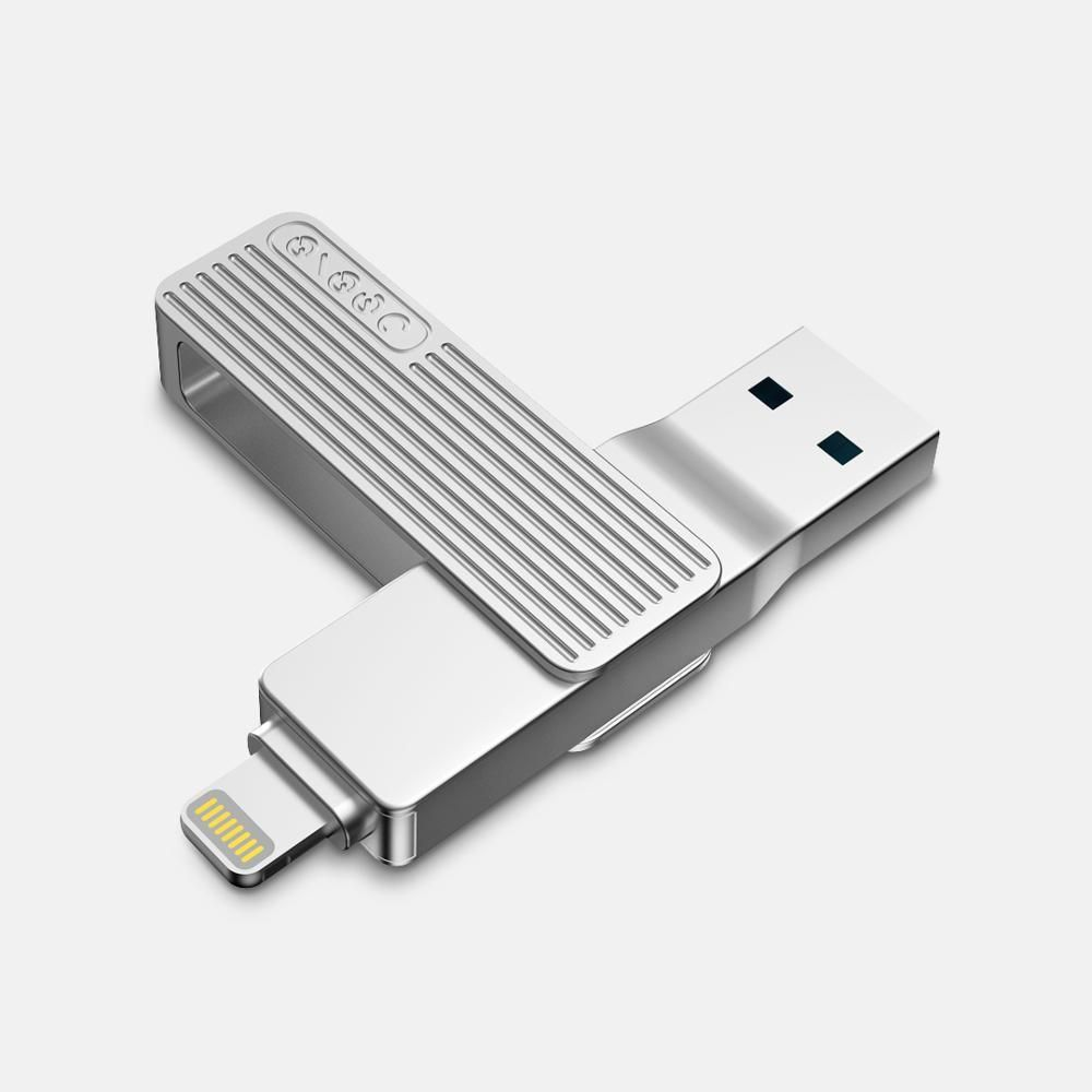 CXW US$40.38~64.38 Jesis 2-in-1 Lightning USB 3.1 Interface High Speed Flash Drive U Disk with MFI For iOS Devices iPhone 11 iPad Pro Laptop MacBook from Xiaomi youpin