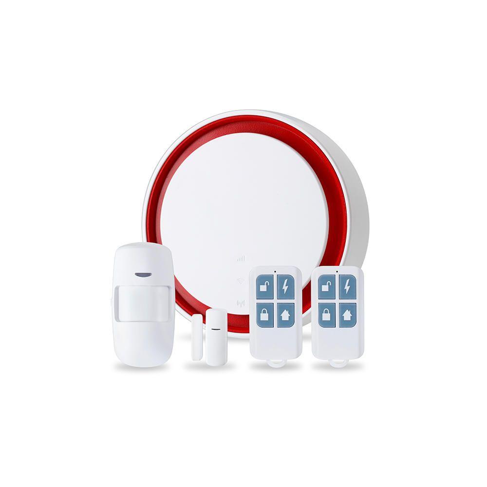 Bakeey Wireless Wifi 433MHz GSM PIR Sensor Door Contact Open Sensor Flash Siren Security Alarm System Work with Tuya APP For Smart Home