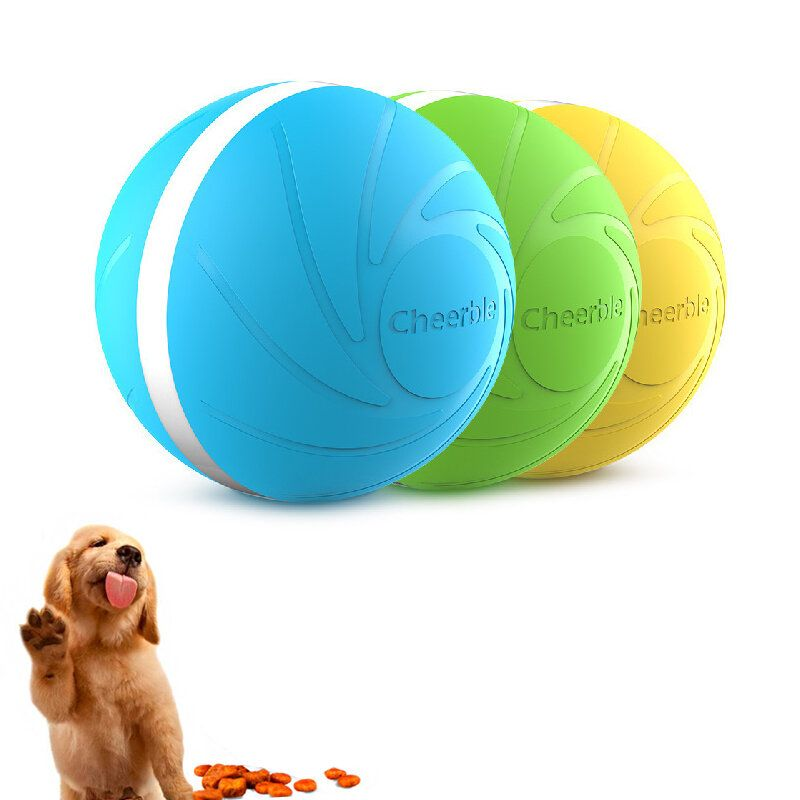 Wicked Ball Intellectual Pet Toys Food Leaking Ball 3 Modes Washable Food Control Rubber Ball