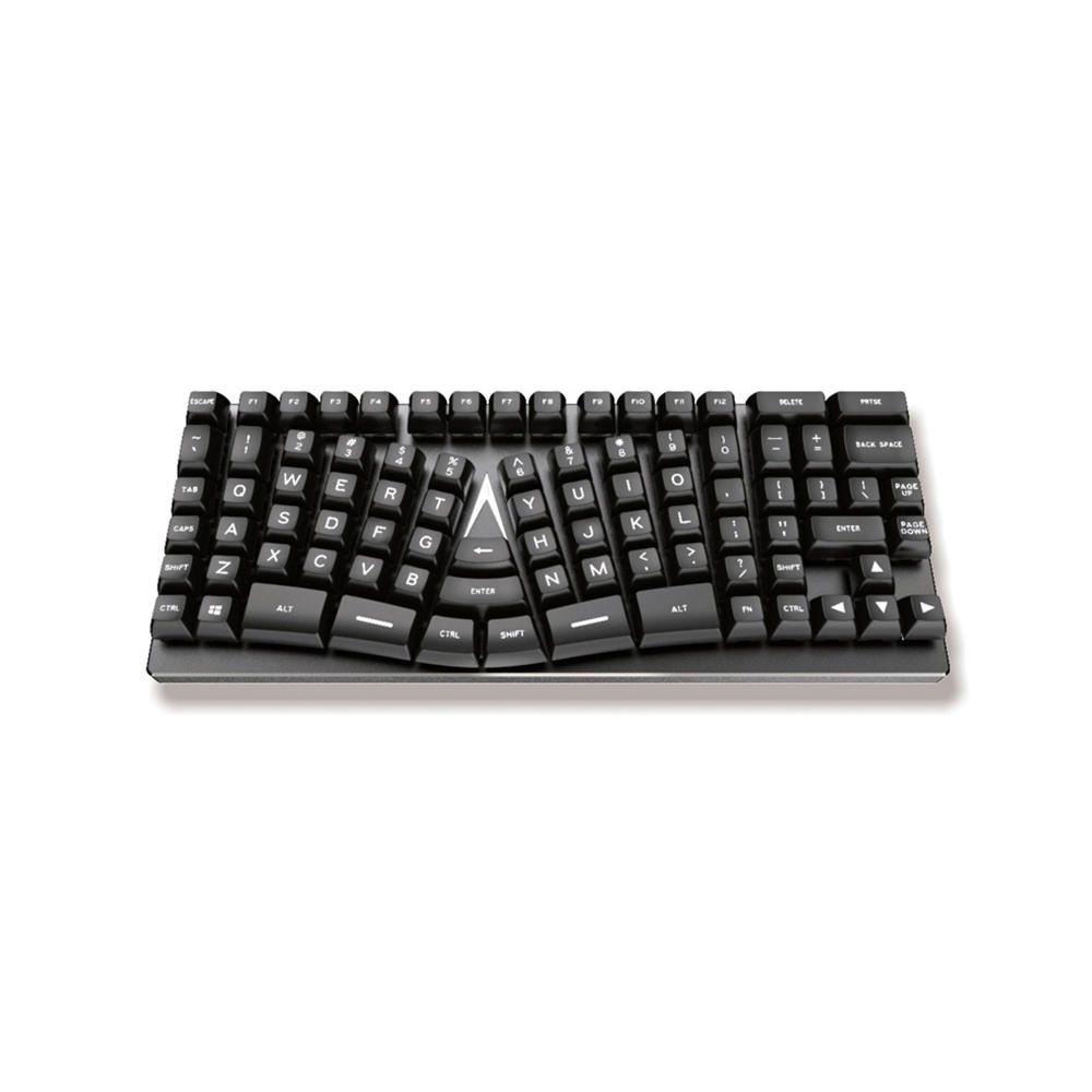 SOY US$99.99 Knight Plus K1 Ergonomic Mechanical Keyboard Plastic Shell 88 Keys Gaming Keyboard