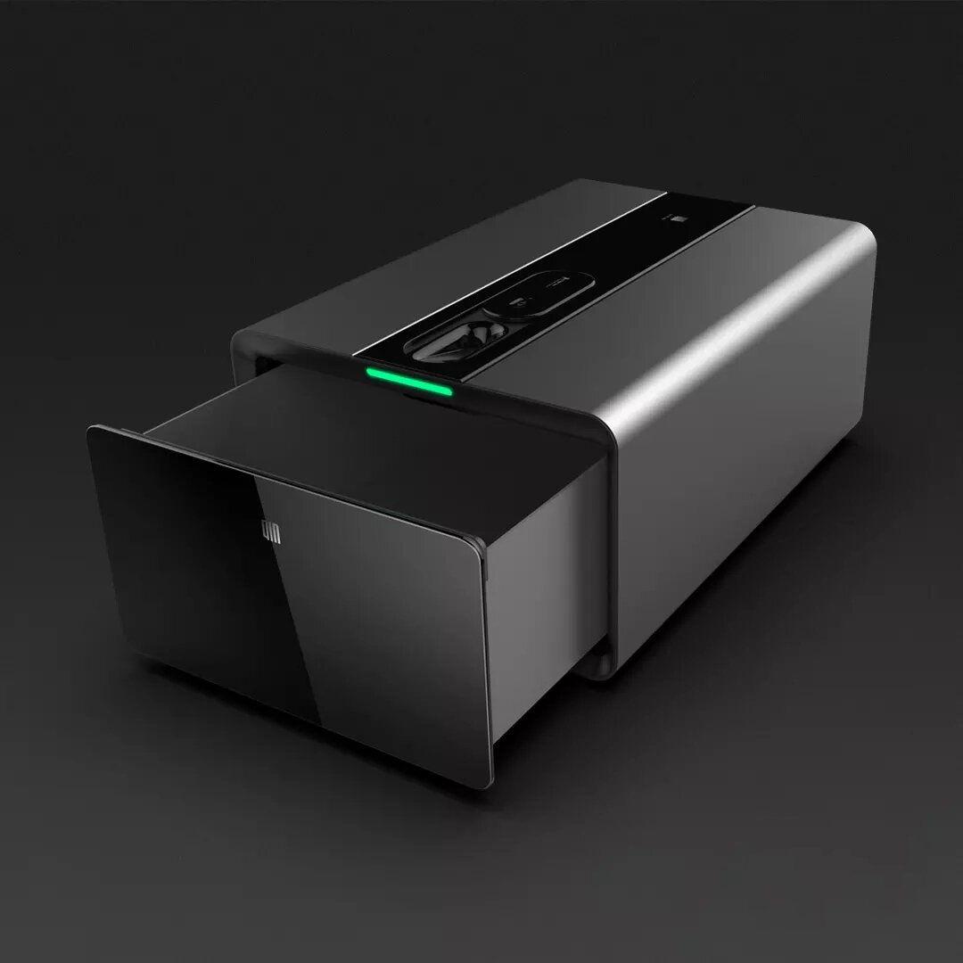 Qin PB FV01 Smart Finger Vein Safe Box Intelligent bluetooth Remote Alarm Password Lock Storage Drawer from Xiaomi Youpin
