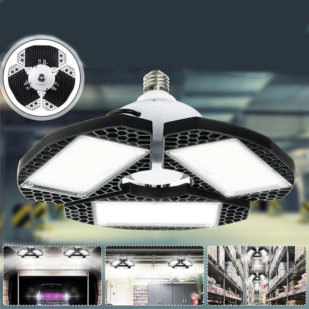 AC100 270V E27 55W 6500K 540LED Garage Light Bulb IP65 Deformable Foldable Shop Lamp