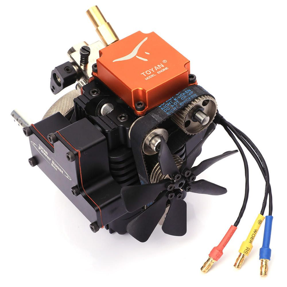 Toyan4 Stroke RC Engine Gasoline Model Engine Kit Starting Motor For RC Car Boat Airplane Toyan FS S100G