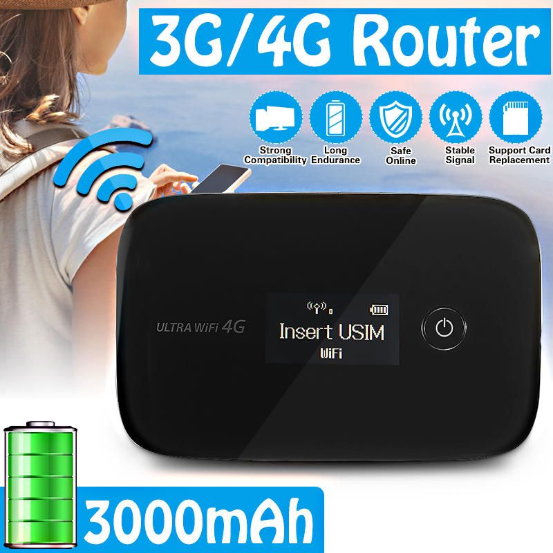 3G/4G USB LCD Chargeable Wifi Network Repeater 2nd Router Wireless USB PC WiFi Amplifier Signal Adapter Extender Booster