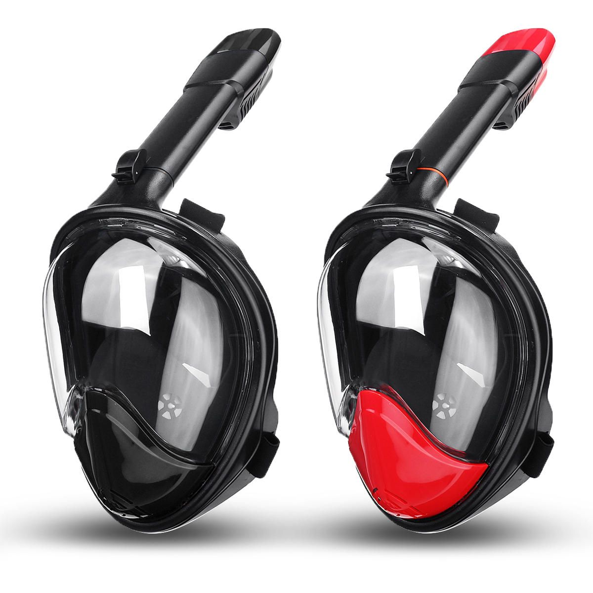Full Face Snorkel Mask Scuba Diving Breathing Water Sports Security Buckle Set