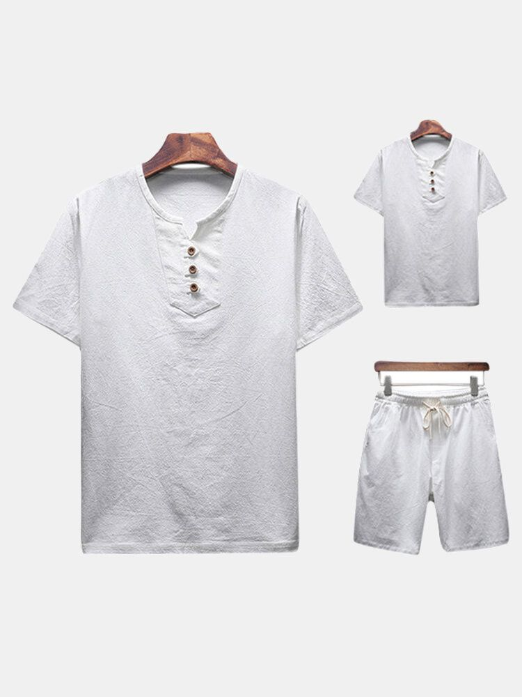 Men's Two piece Suits Short sleeved T Shirts