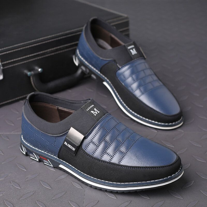 Cowhide Slip Resistant Soft Casual Business Oxfords