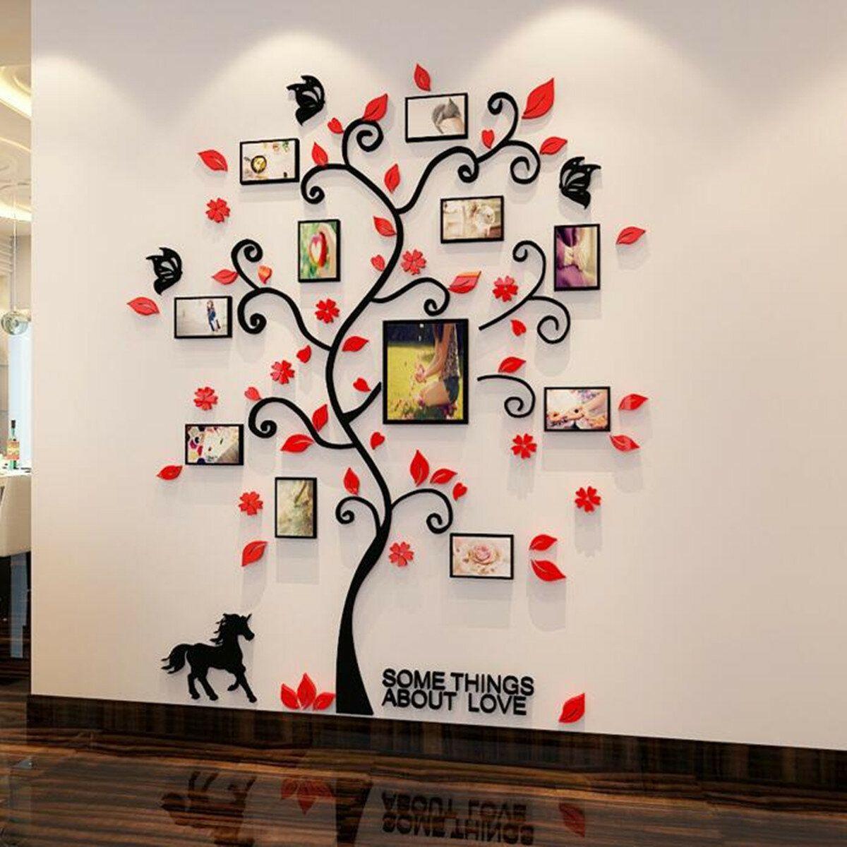 KGX US$16.14 3D Photo Frame Family Tree Wall Sticker Living Room Bedroom Decor