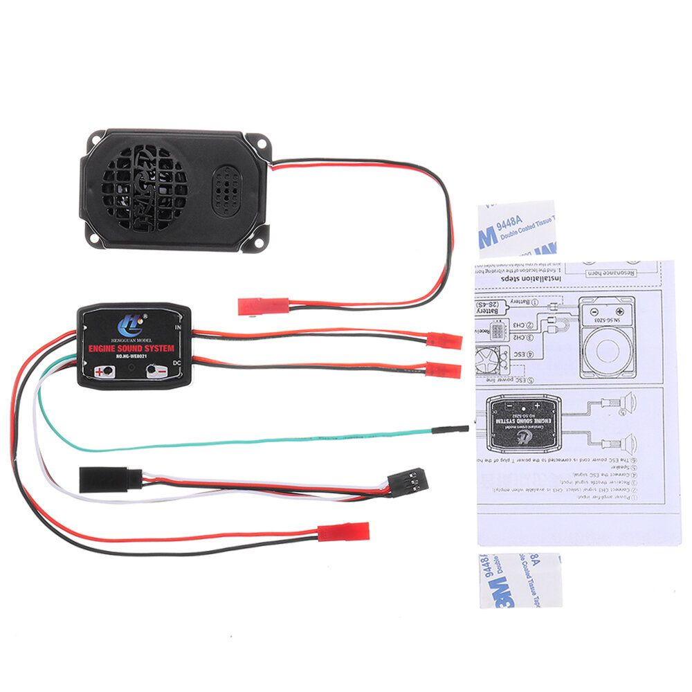 HG P408 1/10 Engine Sound System +Horn Speaker RC Car Spare Parts HG RX1017