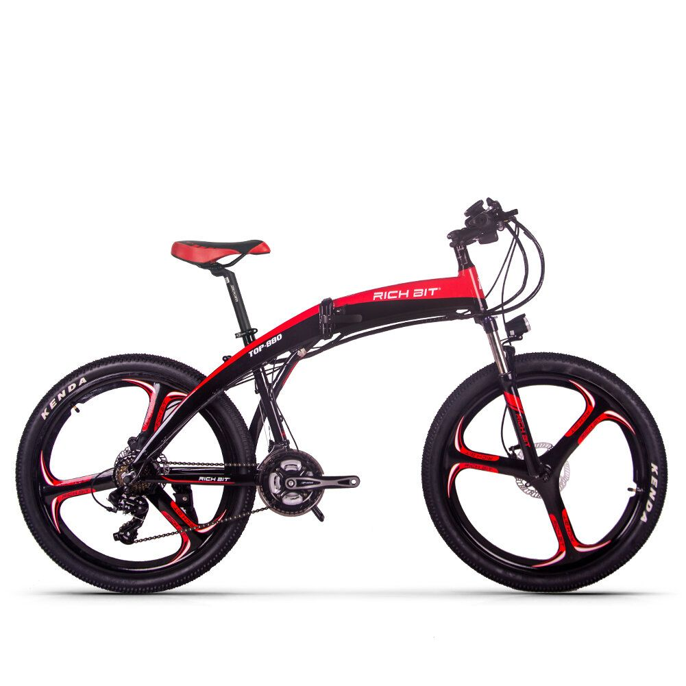 [EU Direct] RICH BIT TOP 880 250W 36V 9.6Ah 26inch Folding Moped Electric Bike Hydraulic Disc Brake 35km/h Top Speed 35 40 Mileage Range Mountain Bicycle