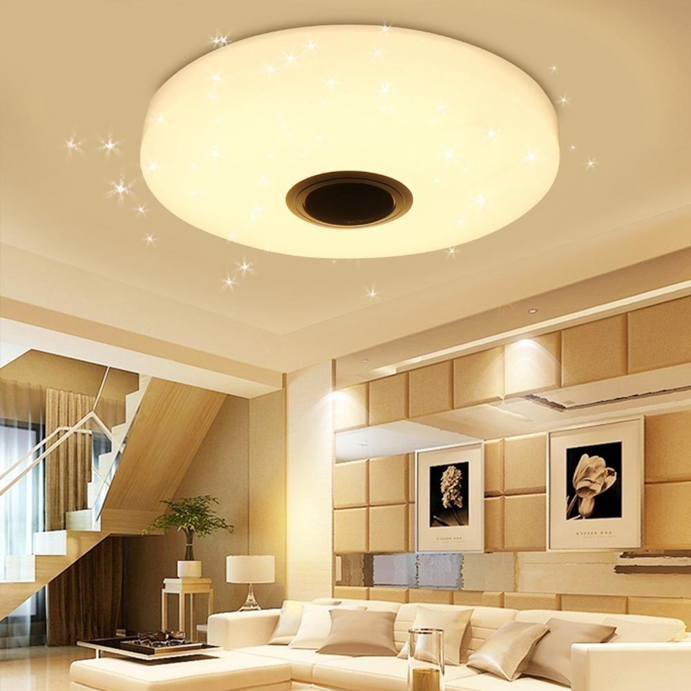 36W RGBW Starlight LED Ceiling Lamp Music Light bluetooth for Bedroom Home AC220V / AC110 240V