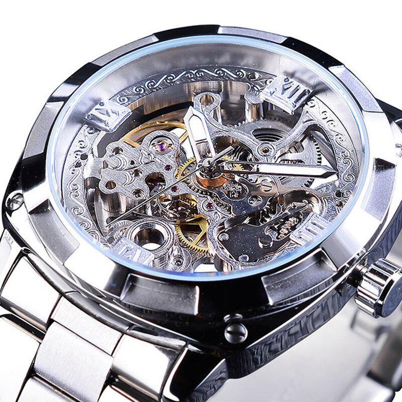 Forsining GMT1091 Light Luxury 3ATM Waterproof Luminous Display Fashion Men Mechanical Watch