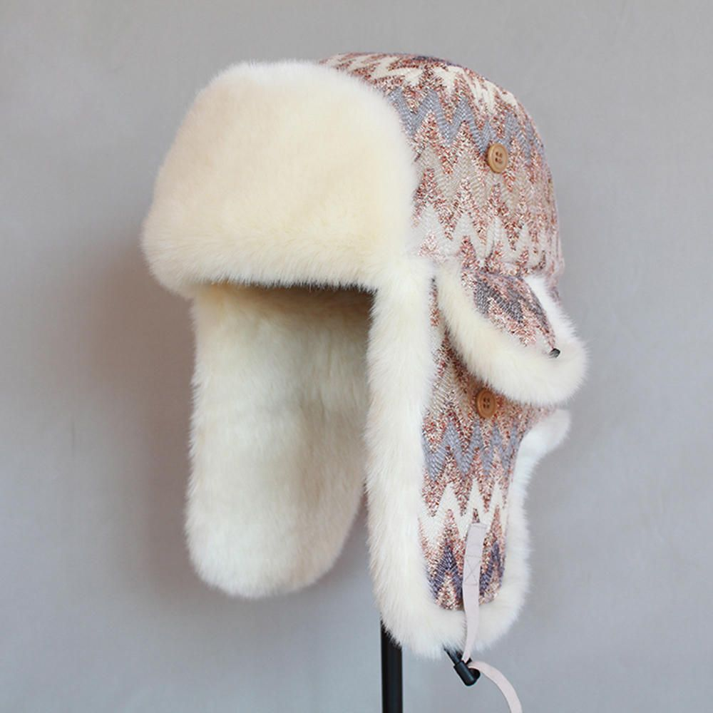 Vintage Printed RussianCWinter Hat Trapper Hat